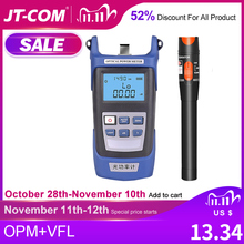 Fiber Optic Tester Optical Power Meter  70 + 10dBm and Visual Fault Locator VFL 10km 30km Optical fiber tester  50 + 26dBm