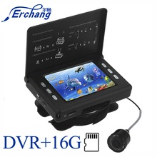 """Erchang F7 3.5""""Inch 15M Infrared Lamp Underwater Camera With DVR Ice Fishing Camera On Rod"""