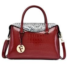 Women's fashion snakeskin bag female 2019 new tide single shoulder slung handbag wild big bag casual pattern handbag