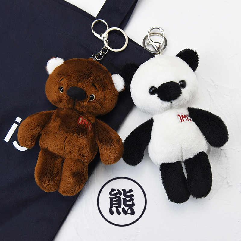 Llavero oso lindo animales de peluche llavero juguetes de peluche para niños Kawaii juguetes de peluche llavero mujeres o hombres coche llavero