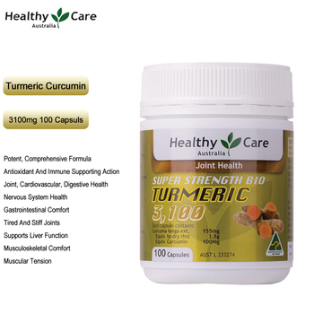 Healthy Care Turmeric Curcumin 3100mg 100Cap for Joint Liver Digestive Nervous System Health Prevent Cancer Relief IBS Arthritis