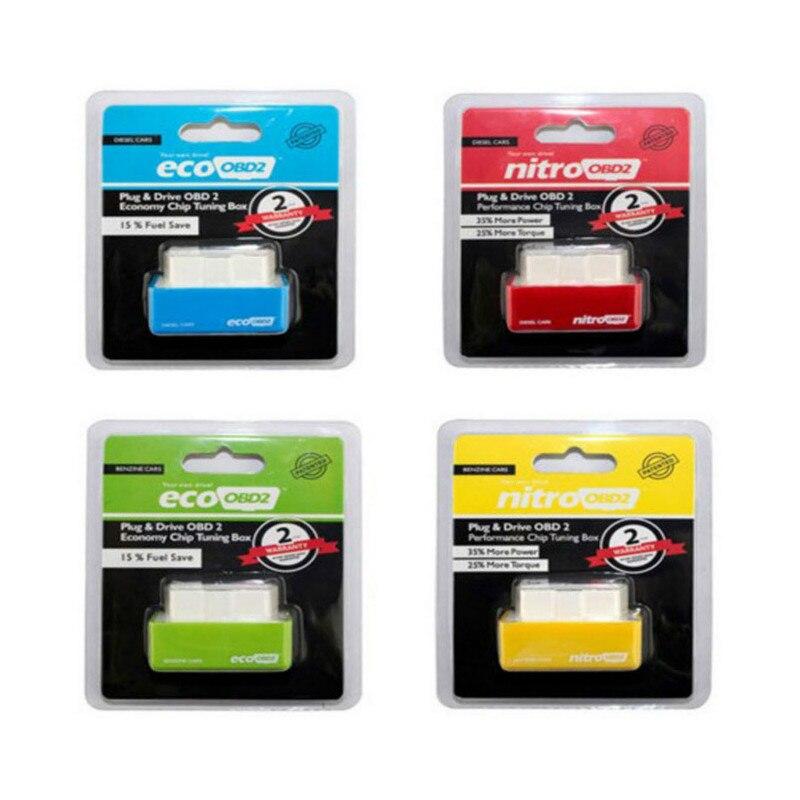 ECO OBD2 Fuel Box Chip Upgrade Fuel Saver Nitro Obd2 Eco Chip Tuning Box For Vehicles Fuel Gasoline Diesel Version Petrol Cars