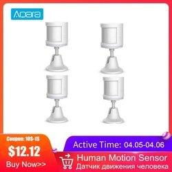 Aqara умный датчик движения человеческого тела PIR датчик движения Zigbee беспроводное соединение работает с приложением Mi Home