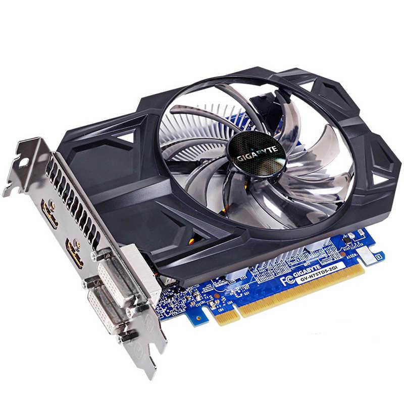 GIGABYTE tarjeta gráfica NVIDIA GTX 750 2GB GDDR5 128 poco con GeForce Gtx 750 Ti GPU tarjeta de Video para PC Hdmi Dvi usado tarjetas VGA