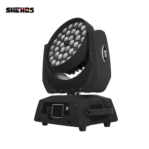 Image 3 - LED hareketli kafa yıkama ışık LED yakınlaştırma yıkama 36x18W RGBWA + UV renkli DMX sahne hareketli kafaları yıkama dokunmatik ekran için DJ disko gece kulübü