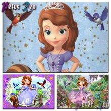 5d мультяшная алмазная живопись Принцесса София полный квадрат