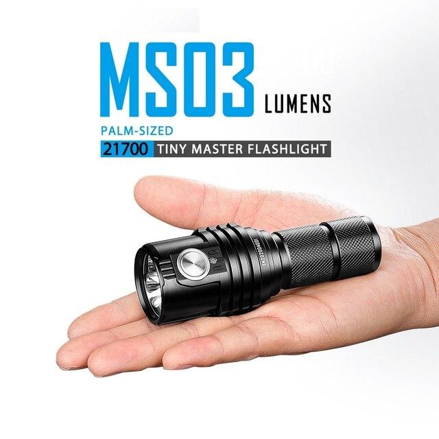 IMALENT MS03 lampe de poche LED 18350 batterie haute puissance phare magnétique USB Rechargeable lampe de poche extérieure pour le Camping