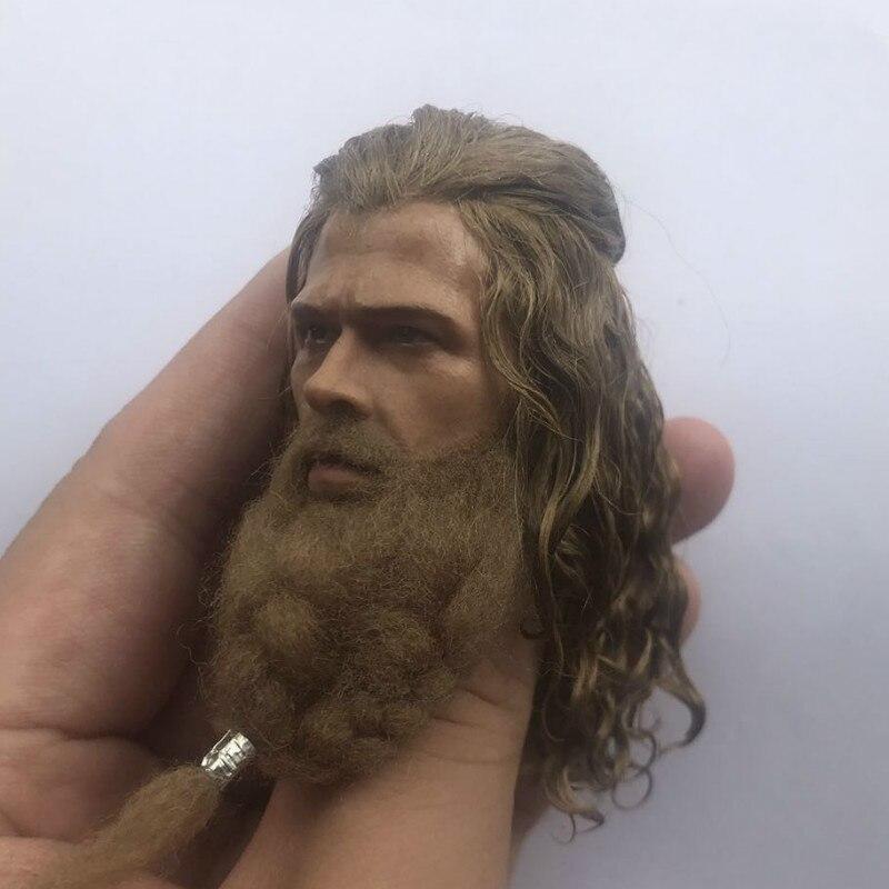 Henry Carville Head Model 1//6 scale PVC Head Carving Bearded Male Head Sculpt