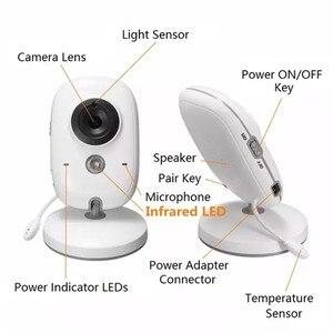Image 4 - ワイヤレスビデオカラーベビーモニターと 3.2 インチ液晶 2 ウェイオーディオトークナイトビジョン監視セキュリティカメラベビーシッター VB603