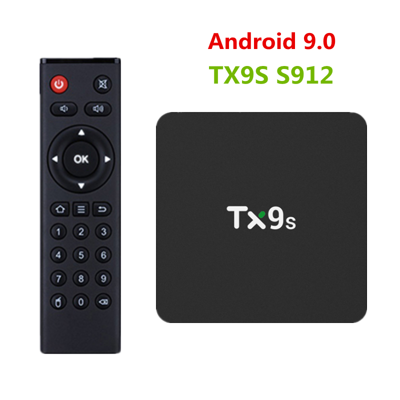 TX9S Smart Android 4k TV Box AmlogicS912 Chip Octa Core 2GB 8GB Media Player Set-top Box 2.4GHz Wifi With Remote Control