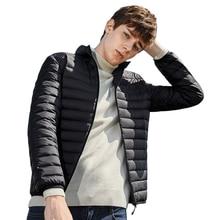 Semir para baixo jaqueta masculina inverno 2020 portabilidade quente 90% pato branco para baixo com capuz casaco masculino chaqueta hombre