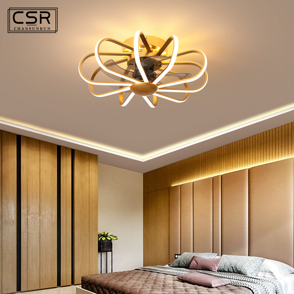 Considerate 2020 New Modern 55cm Nordic Ceiling Fan Lamp With Lights Remote Control Bedroom Decor Ceeling Fans Light Ventilator Silent Good For Energy And The Spleen