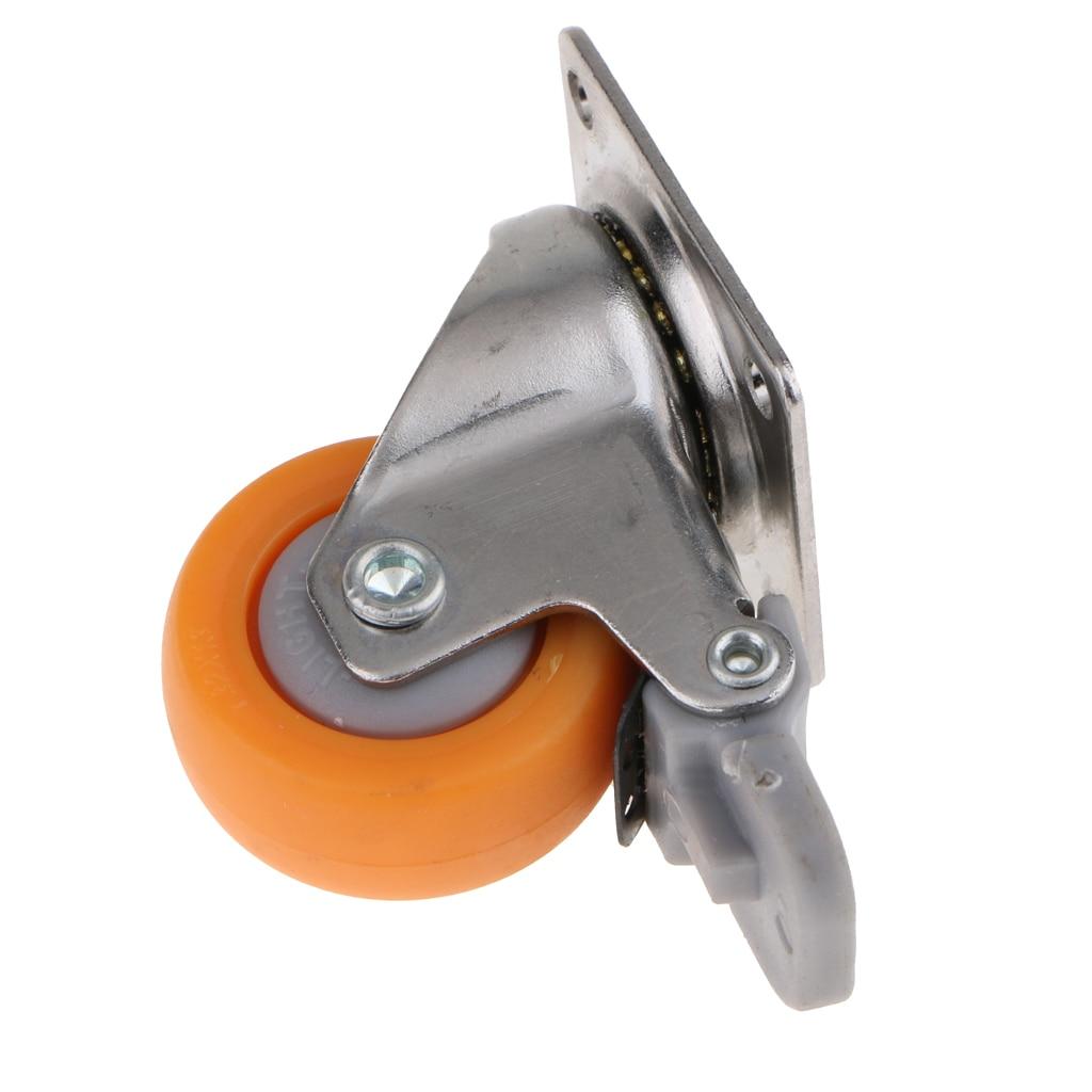 O rodízio resistente do giro de 1.25 polegadas roda a placa superior de 720 graus com capacidade do freio 17kg-2