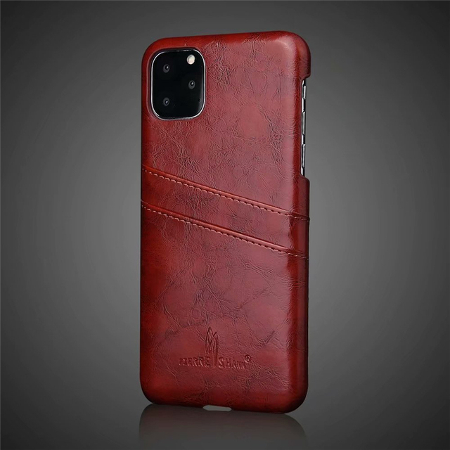 Slim Hard Leather Card Holder Case for iPhone 11/11 Pro/11 Pro Max 1