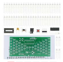 5V Electronic Hourglass DIY Kit Funny Electric Production Kits Precise With LED Lamps Double Layer PCB Board 84*40mm