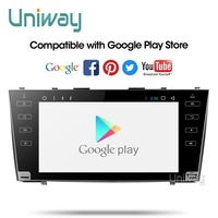 AKMR9071 uniway 2G+32G android 9.0 car dvd gps player for toyota camry 2007 2008 2009 car radio with steering wheel