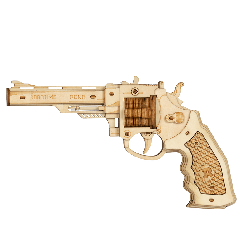 Robotime 3D Wooden Puzzle Rubber Band Guns Justice Guard Toy Corsac M60 For Teens Funny Outdoors Game Shooter Gifts LQ401(China)