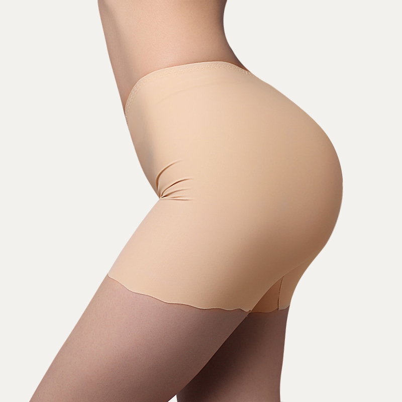 New Summer Women Seamless Safety Pants Plus Size Ice Silk Boy Veiligheids Shorts Boxer Femme Briefs Panties Underwear Hanche
