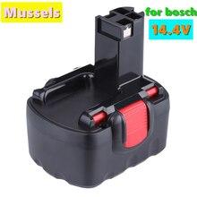Bateria recarregável da ferramenta elétrica de bat038 14.4v 12800mah ni-cd para bosch bat038 15614 1661 1661k 22614 23614 32614 33614