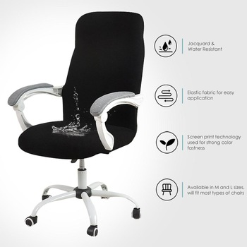 Cover for Computer Chair  Water Resistant Jacquard Office Chair Slipcover Elastic for Home Armchair 1PC  sillas de oficina 1