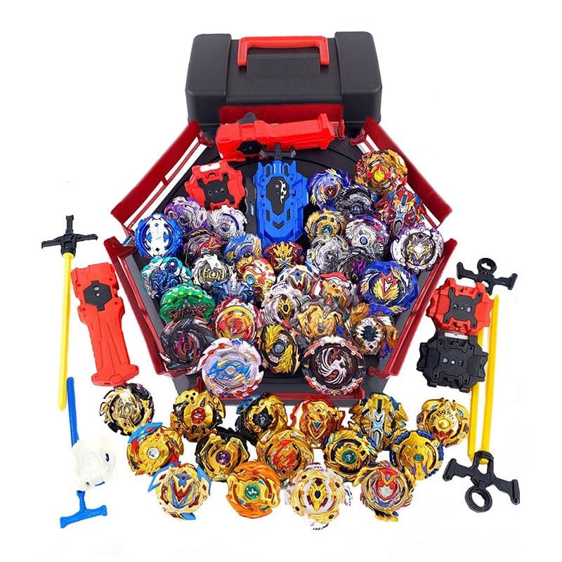 Todos os modelos beyblade explosão brinquedos com acionador de partida e arena bayblade fusão metal deus girando superior bey blade blades brinquedos