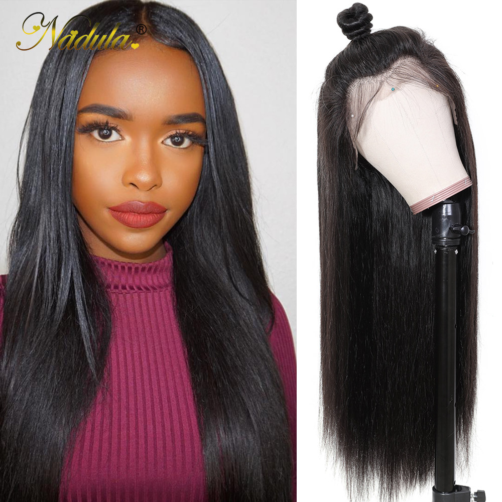 Nadula Hair Transparent Lace Front Wigs 13X4/13X6 Straight Human Hair Wigs Pre Plucked With Baby Hair Wigs For Back Women