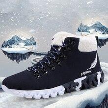 High Top Men's Snow Shoes Winter Fashion Casual Shoes Men La