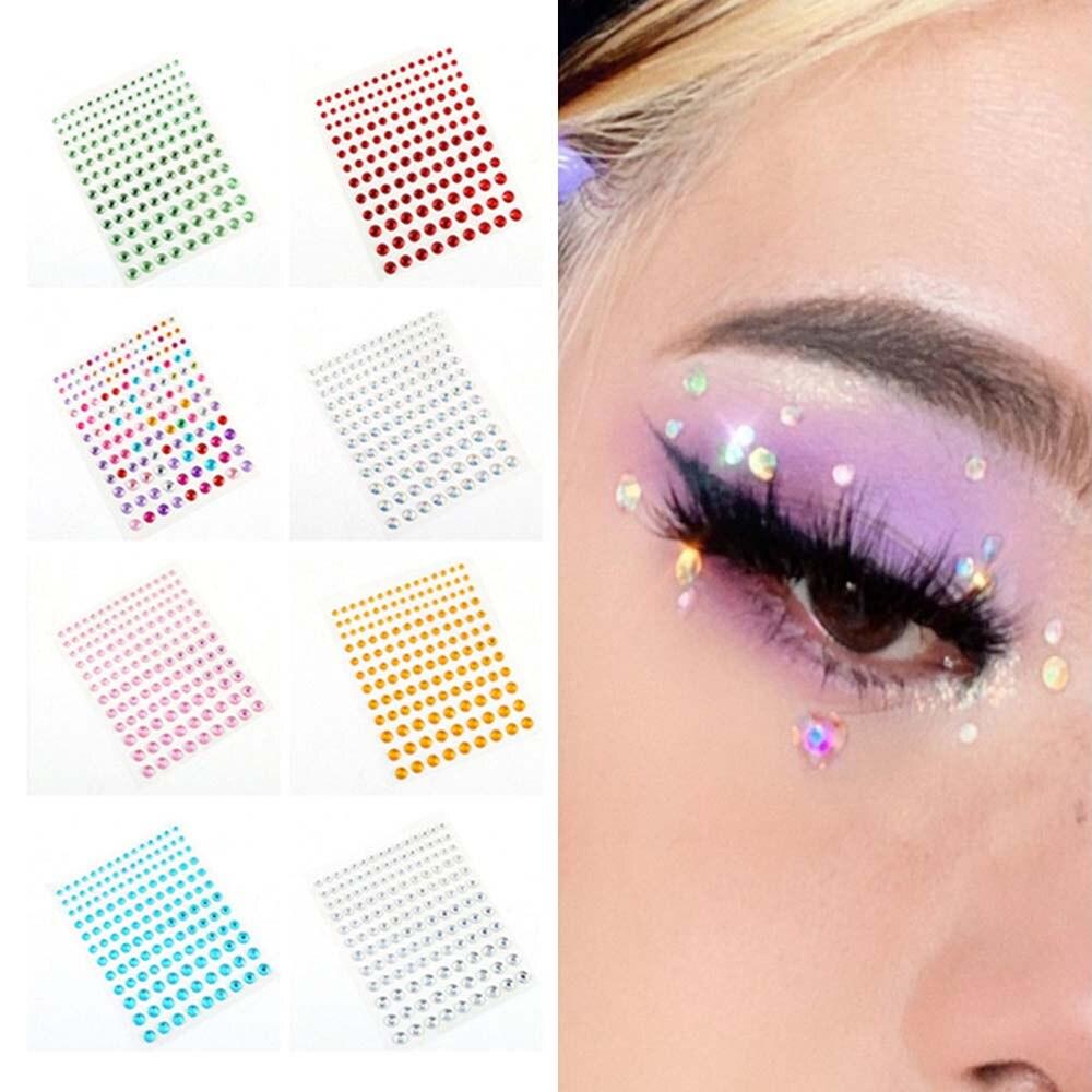 1 лист 3/4/5/6 мм модные самоклеящиеся наклейки Стразы кристальная наклейка для ногтей красивый макияж для лица украшение для телефона