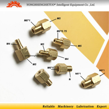 Connector-Joint Center Straight-Adapter M4 Thread for Tube Lubrication-System/cnc-Machine