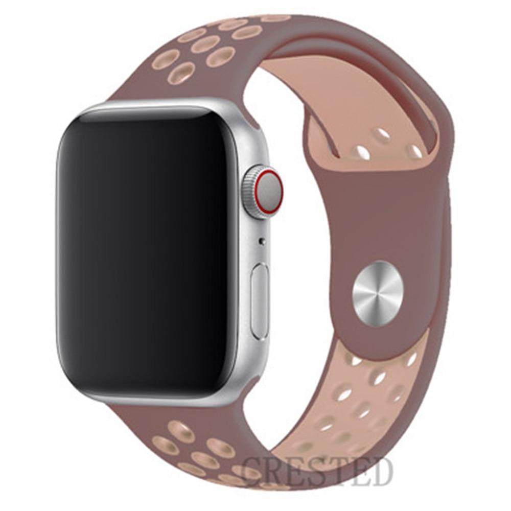 Спортивный ремешок для apple watch band 44 мм/40 мм apple watch 5 4 3 band iwatch band 5 42 мм/38 мм correa браслет ремень аксессуары для часов - Цвет ремешка: Smokey Mauve32