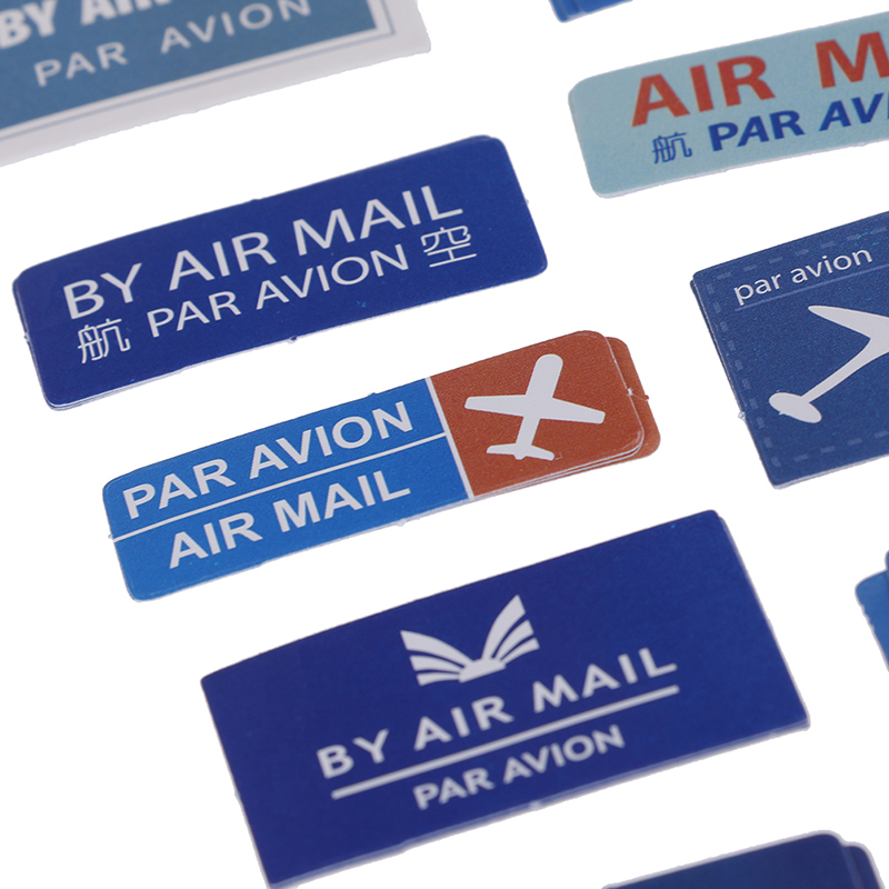 45pc/pack Air Mail Retro Air Letter Paper Lable Stickers Decoration Stationery Scrapbook Sticker