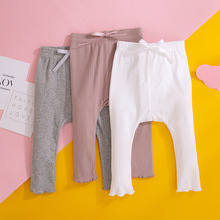 2021 New Baby Girls Boys Leggings Solid Color Trousers Toddler Clothing Koreab Style Infant Girl Cotton Soft Leggings Pants