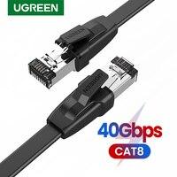 UGREEN Cable Ethernet CAT8 40Gbps de RJ 45 Cable de conexión Lan para PS 4 Router portátiles módem RJ45 Cable de red CAT 8 Cable Ethernet