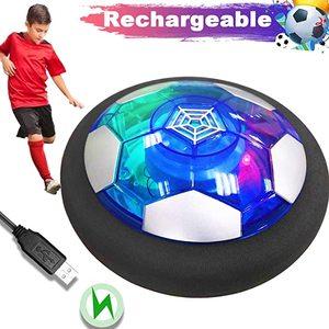 Air Power Hover Soccer Ball Light Flashing Ball Air Power Football Toys Home Game Gliding Soccer Stress Indoor Balls Boy Gift