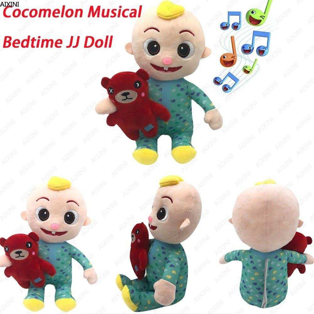 Cocomelon zabawki lalki może śpiewać Cocomelon Jj lalki śpiewać chłopiec Cocomelon muzyczne dobranoc Jj lalki pluszowe zabawki Jj rodzina dzieci prezent Plushie