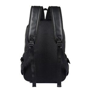 Image 4 - Yeni moda erkekler sırt çantası erkek sırt çantaları genç için lüks tasarımcı PU deri sırt çantaları erkek yüksek kaliteli seyahat sırt çantaları