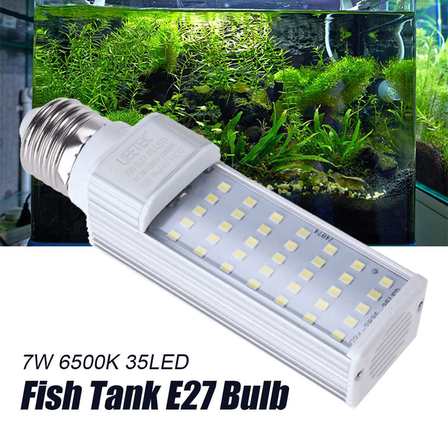 1PC 7W E27 LED Energy Saving Lamp to Fit All Fish Pod and Fish Box Aquariums (White)