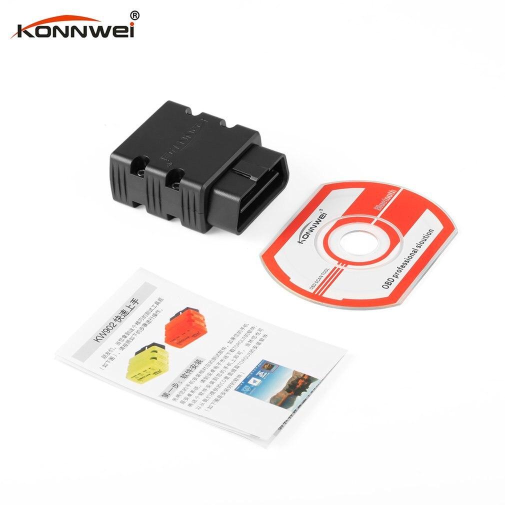Konnwei KW902 ELM327 Bluetooth OBD2 автомобильный диагностический сканер неисправностей детектор инструмент считыватель кода OBDII автоматический сканер И...