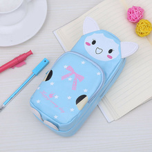 Cute Cartoon Pencil Case Students Lovely Animal Storage Makeup Pen Bag Stationery LHB99