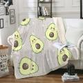 Авокадо шерпа одеяло для кровати милые фрукты мягкий плед мультфильм авокадо мягкие покрывала желтый тонкий одеяло дети Прямая поставка