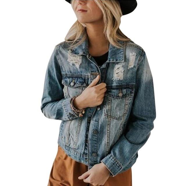Women Long Sleeve Denim Coat Ladies Casual Jacket Outwear Jeans OvercoatDrop shipping supplier Selling discount girl boy the man