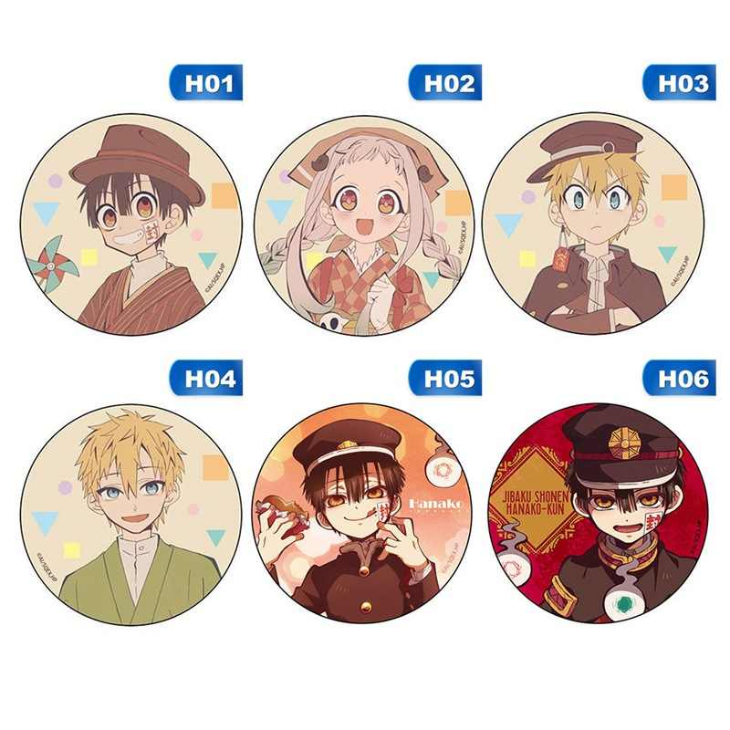 Anime Jibaku Shounen Hanako-kun Nene Yashiro Teru Minamoto Hanako Japan Cosplay Bedge Cartoon Bags Badge Button Brooch Pin Gift