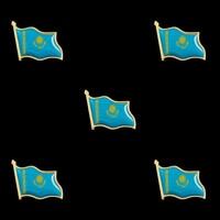 5PCS/Lot Kazakhstan Crossed Flag Lapel Safety Pin Metal Set National Flag Brooch Badge