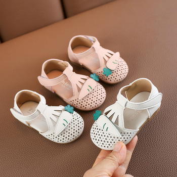 Spring Baby Casual Shoes Hollow Princess Shoes Toddler Shoes 0-2 Years Old Children's Shoes фото