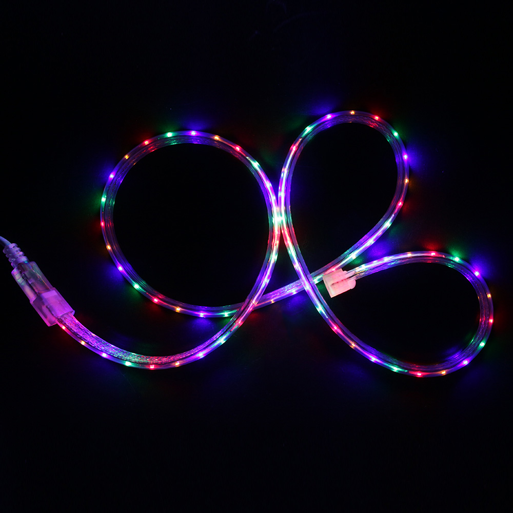 AC220V RGB Waterproof Led Strip With 8 Modes Controller Led Flexible Fairy Lights Twinkle String Christmas Outdoor Decorations