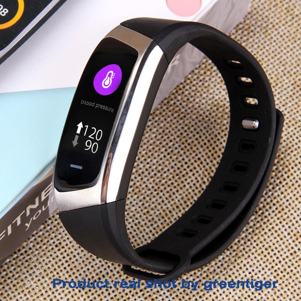 H9d3d75326e3a4533b1f78b40fc7a74f1w Greentiger E18 Smart Bracelet Blood Pressure Heart Rate Monitor Fitness Tracker smart watch IP67 Waterproof camera Sports Band