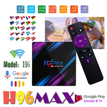 H96 Max Rk3318 Chip 9.0 4K Dual Wifi 5G Tv Box 2G+16G 4G+32G 4G+64G Tv Box Receiver Tv-Box Smart-Set Play Store Video Youtube стоимость