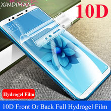 XINDIMAN 10D Full hydrogel film for xiaomi6 6X Front Or Back screen protector xiaomiplay A3 A3lite 8 8SE 9 9Se CC9 CC9e Max3
