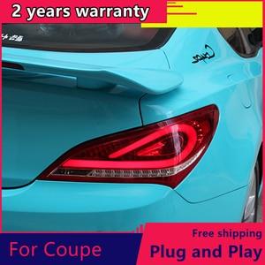 Kowell estilo do carro para hyundai rohens coupe luzes da cauda 2009-2012 coupe led luz da cauda lâmpada traseira drl + freio + parque + sinal