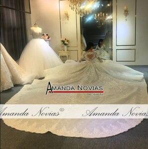 Image 5 - Amanda Novias design real work wedding dress 2020 dubai luxury bridal dress wedding gown 100% real work photos